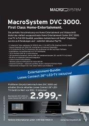 MacroSystem DVC 3000. - 4DiMotion.de