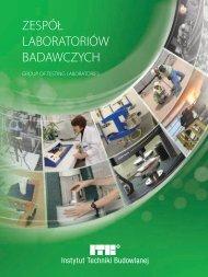 Zespół Laboratoriów Badawczych ITB (.pdf) - 1,8 MB