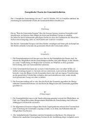 Europäische Charta der Gemeindefreiheiten - Rat der Gemeinden ...