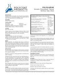 polyglaze ar - Polycoat Products