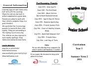 Curriculum Leaflet Year 3 Summer 2 11.pub - Warden Hill Junior ...
