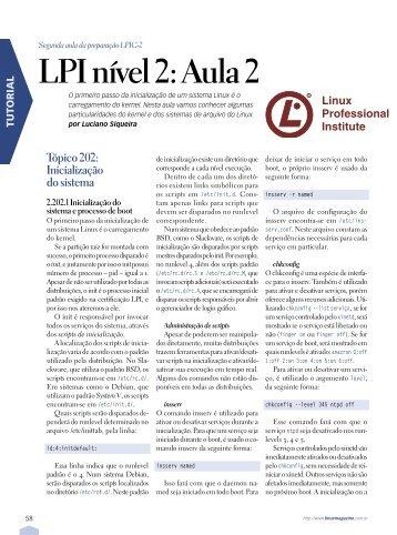 LPI nível 2: Aula 2 - Linux New Media