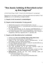 Den danske holdning til Barsebäckværket og dens baggrund