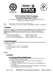 RMCGF Technical Regulations 2013 - Rotax
