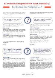 Hungarian - The Four Spiritual Laws