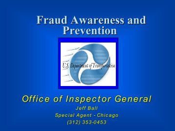 Fraud Awareness and Prevention