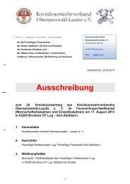 Ausschreibung 20. Kreisfeuerwehrtag Lug - KFV-OSL