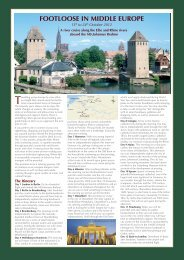 FOOTLOOSE IN MIDDLE EUROPE - Noble Caledonia