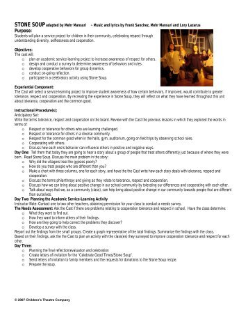 Study Guide - Children's Theatre Company