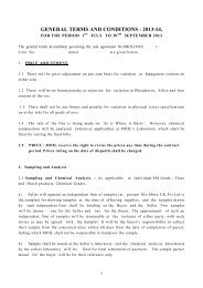 GENERAL TERMS AND CONDITIONS - 2009-10, - Moil Limited