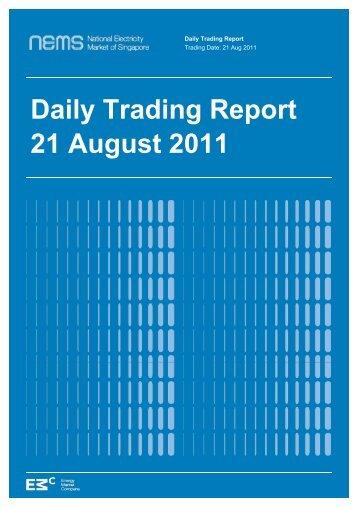 Daily Trading Report - EMC - Energy Market Company