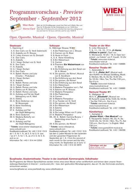 Programmvorschau · Preview September · September 2012