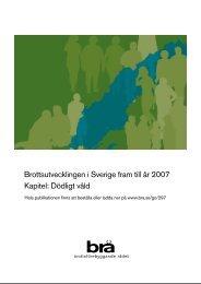 Brottsutvecklingen i Sverige fram till år 2007 Kapitel: Dödligt våld