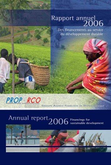 Télécharger le rapport annuel 2006 - Proparco