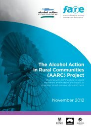 The Alcohol Action in Rural Communities (AARC) Project - FARE
