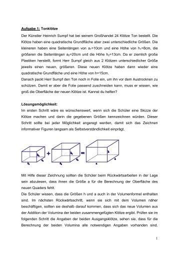 Oberfläche Zylinder Berechnen Prismen Problemloesenlernen De. Oberfläche  Zylinder Berechnen   Prismen Problemloesenlernen De . Oberfläche Zylinder  Berechnen ...
