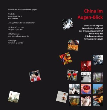 China im Augen-Blick - Nikolaus-von-Weis-Gymnasium