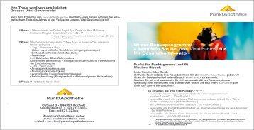 Imageprospekt Apo Bonusprogramm - apoadvice