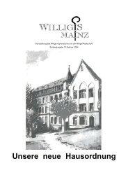 Unsere neue Hausordnung - Bischöfliches Willigis Mainz