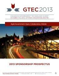 GTEC Canada 2013 Sponsorship Prospectus