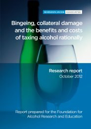 Bingeing, collateral damage and the benefits and costs of ... - FARE