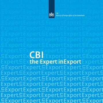 to download the CBI brochure Expert in Export
