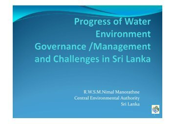 RWSMNimal Manorathne Central Environmental Authority Sri Lanka - WEPA