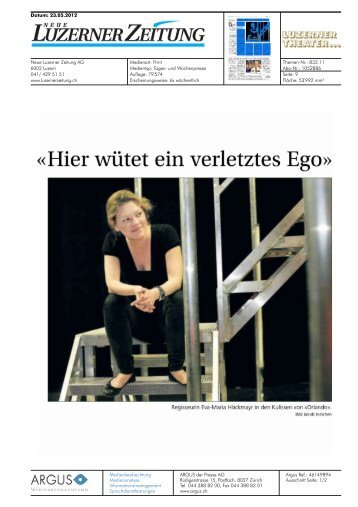 ein Interview - Luzerner Theater