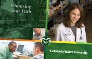 Choosing Your Path - Admissions - Colorado State University