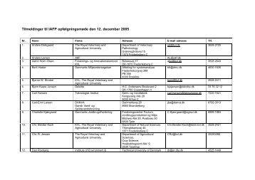 Deltagerliste - Forskningsplatformen