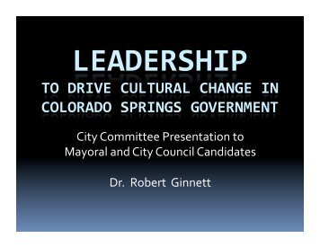Report on Leadership - The City Committee