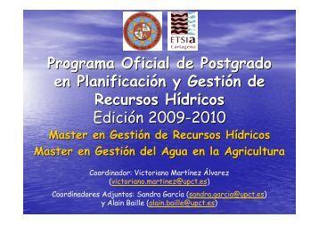 Programa Oficial de Posgrado. Planificación y Gestión de Recursos ...