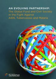 AN EVOLVING PARTNERSHIP: The Global Fund and Civil Society ...
