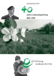 Jubilaeumsschrift 40 Jahre Lebensbegleitung.pdf - Stiftung ...