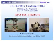 ETCS Tests results - UIC