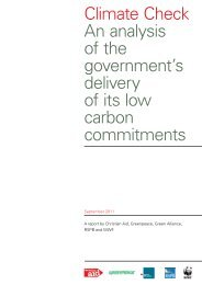 Climate Check An analysis of the government's ... - Christian Aid
