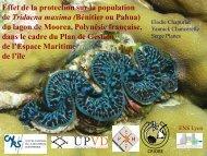 Effet de la protection sur la population de Tridacna maxima (Bénitier ...