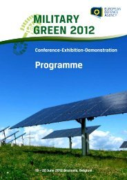 Military Green 2012 - Programme - European Defence Agency