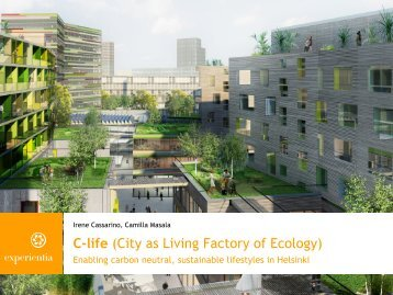 C-life (City as Living Factory of Ecology) - designingconnectivity