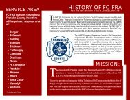 First Response Agency Brochure - Alice Hyde Medical Center