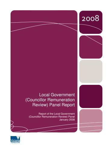 Councillor Remuneration Review - Victorian Local Governance ...