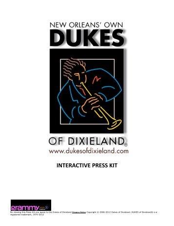 Dukes of Dixieland Press Kit - Ted Kurland Associates