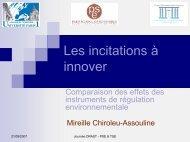 Présentation de Mme Chiroleu Assouline - Paris School of Economics