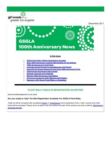December 2011 - Girl Scouts of Greater Los Angeles