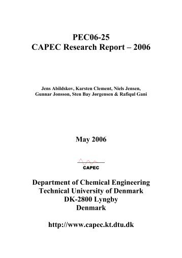 PEC06-25 CAPEC Research Report – 2006