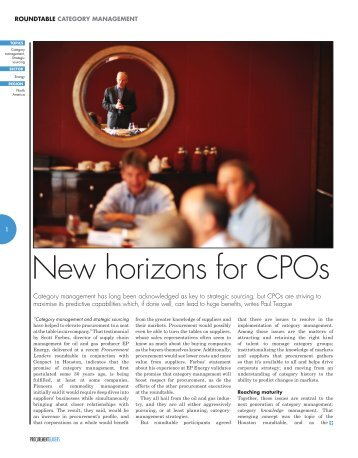 New horizons for CPOs - Genpact