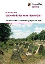 """Strecken- und Flächendenkmal """"Westbefestigung"""""""