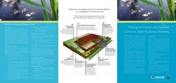 Planning for Erosion and Sediment Control on Single ... - Landcom