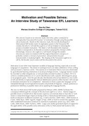 Motivation and Possible Selves: An Interview Study of ... - CamTESOL