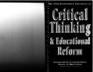III - The Critical Thinking Community